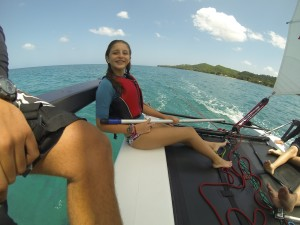 Learn to Sail a Hobie Getaway in Rincon, Puerto Rico.